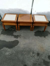 two brown wooden side tables Laval, H7P 2V1