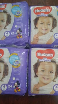 4 Huggies Little Movers size 4 - 96 diapers Gaithersburg, 20878
