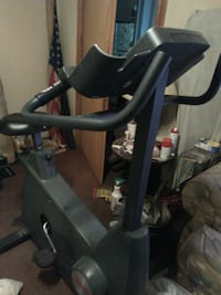 black stationary bike