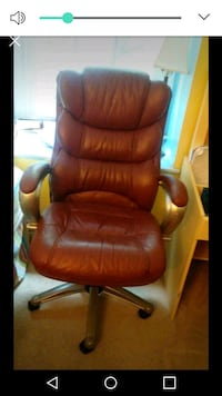 brown leather office rolling armchair Gaithersburg, 20878