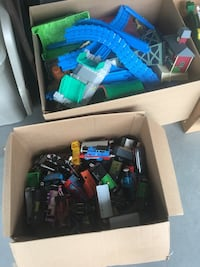 Assorted plastic toys in box Sandy Spring, 20860