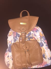 brown leather floral crossbody bag Monticello, 55362