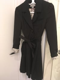 Women Spring Black Trench size S