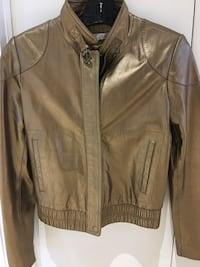 Stunning size small bronze ladies all leather bomber jacket Hampstead, H3X 3G3