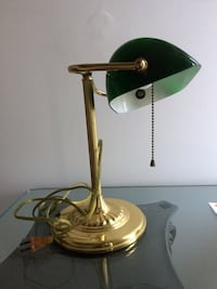 brass and green table lamp Lakewood, 08701