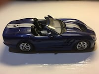blue sports coupe die cast scale model Worcester, 01603