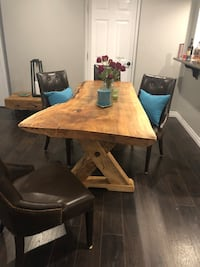 MAPLE SLAB LIVE EDGE DINING TABLE