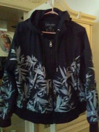 black and gray floral zip-up jacket Toronto, M4B 2G1