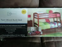 New twin wood bunk beds