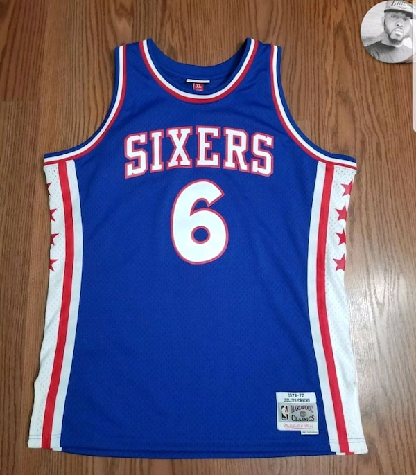 newest collection e0443 77fa3 Mitchell and Ness Julius Erving Throwback Jersey