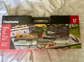 Chef mate 17 piece grilling tool set