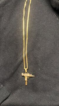 Gold Coloured Chain with Uzi Pendant Calgary, T2E