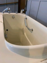 Oversized handicapped walk-in spa tub