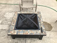 Firepit with Mosaic Tile null