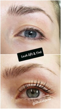 Lash lift and Tint London