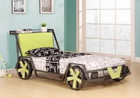 black and green car themed bed 535 km