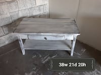 rectangular white wooden coffee table Raleigh, 27612