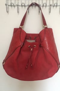Cole Haan authentic Red drawstring leather beautiful tote bag