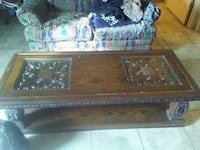 brown wooden framed glass-top coffee table Crossville, 38555