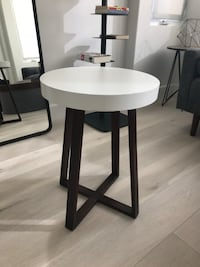 Midcentury White Side Table