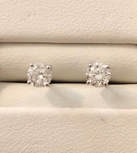 14k white gold .58ct. diamond stud earrings *Priced exceptionally Low! Vaughan, L4J