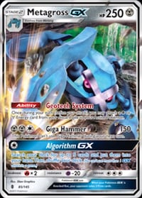 Evolved Pokemon Card - Metagross GX__NEW