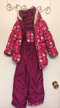 Red and white floral zip-up hoodie snow pants and coat  London, N6G 3R9