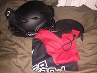 Black tactical helmet with carrying bag 72 mi