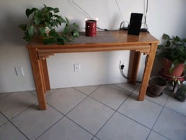 4 Piece Coffee table and 2 end tables with TV or behind couch table.