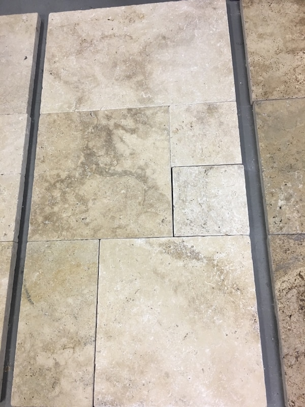 Natural stone pavers French Pattern beige color for$2 49