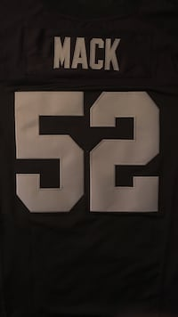 Oakland raiders mack 52 jersey - Authentic black home jersey Vaughan, L4K 4Y1