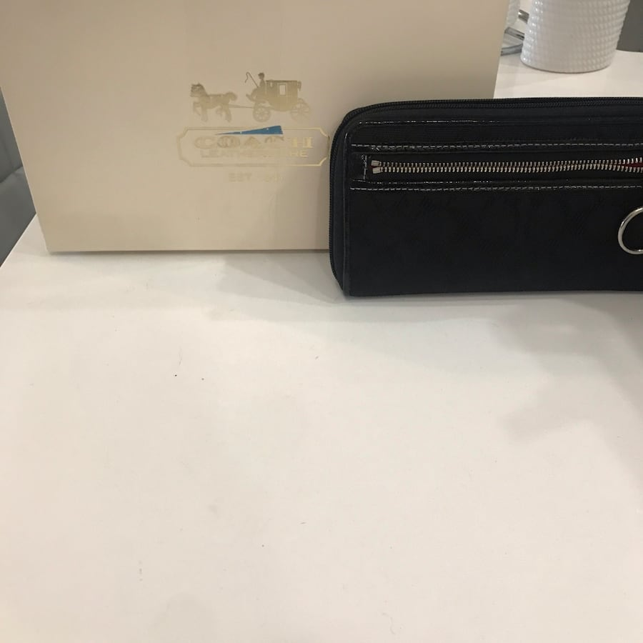 Black Coach wallet. It is in great condition.