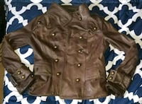 Real leather military style jacket Surrey, V3W 0W5