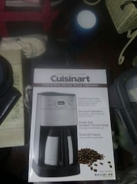 grey and black Cuisinart grind and brew thermal 10-cup coffeemaker box