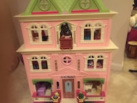 pink and green 3-storey dollhouse Rockville, 20850