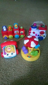 V-tech toddler learning toys with sound. Like new