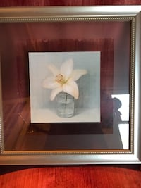 white magnolia flowers framed painting Oakton, 22124