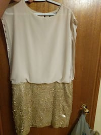 white and yellow glittered dresss  Ontario, L4L 6L1