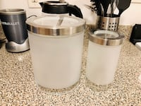 Chic, frosted glass jars Arlington