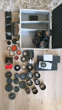 Vintage camera lenses lot Tomball