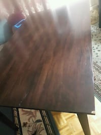 rectangular brown wooden table with four chairs dining set 548 km