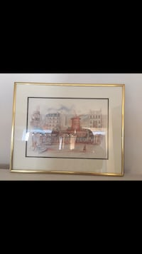 Moulin rouge watercolour in gold frame Richmond Hill, L4C 1V6