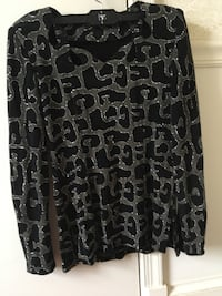 black and gray floral skirt Springfield, 22150