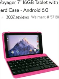 RCA PINK TABLET WITH KEYBOARD $35  Miami, 33125