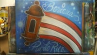red, white, and brown painting artwork Poinciana, 34759