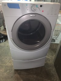 Whirlpool duet front load electric dryer with pedastal working perfectly Hyattsville, 20785