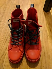 Hunter X Target dipped canvas high top shoes
