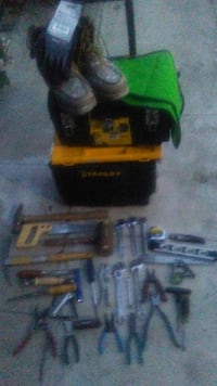 Stanley tool box and assorted tools and boots Inglewood, 90301