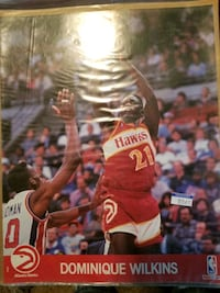 NBA 1990 NBA Hoops UNOPENED Action Photo-Dominique Wilkins