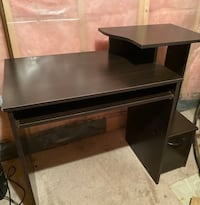 Brown-Wooden Desk  Ajax, L1S 1R4